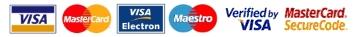 Acceptam plati prin Transfer Bancar, Internet Banking, Ordin de Plata si carduri de credit / debit Visa, Visa Electron, MasterCard, Maestro.